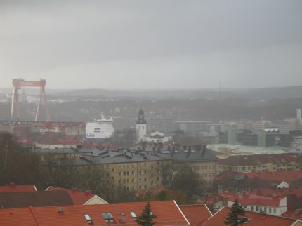 Göteborg badar i dimma - som vanligt på våren
