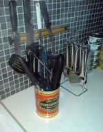 Massor av köksredskap - men ingen soppslev