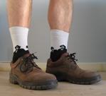 Vinterskor med strumpr och bara ben: Aja baja!