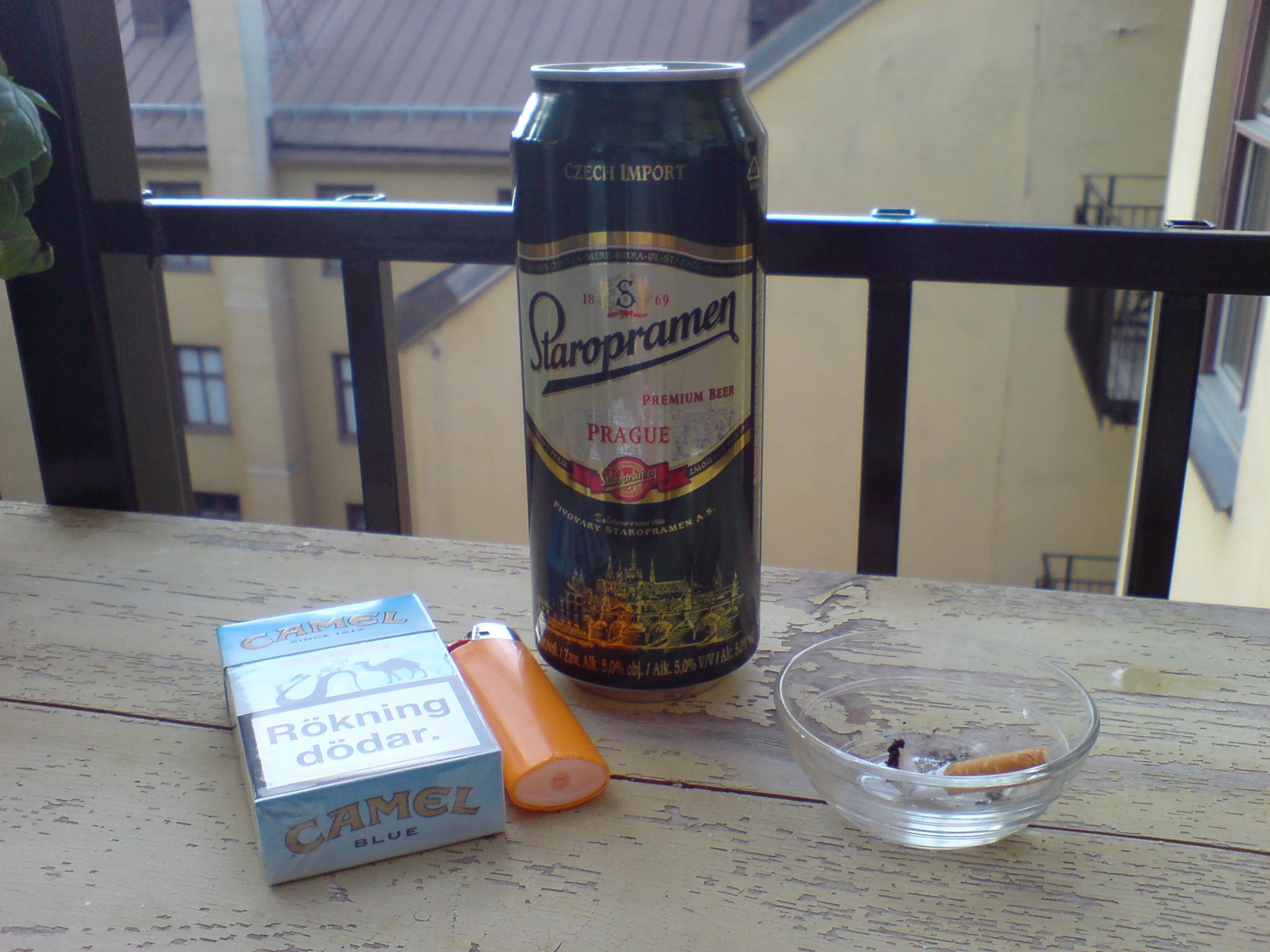Balkongen får dig att röka och dricka