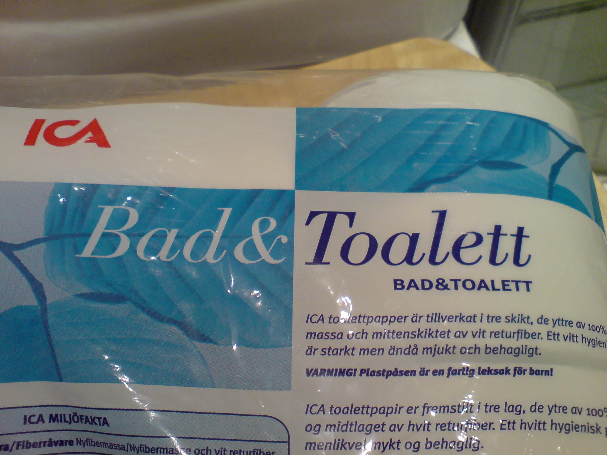 Bad- och toalettpapper
