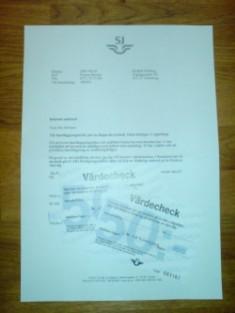 Ett brev från SJ