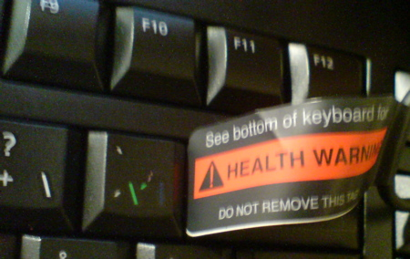 Health Warning - Do not remove this tag