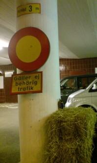 Motortrafik förbjuden - Gäller ej fordon med tillstånd, eller hästar