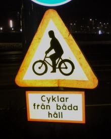 Cyklar från båda håll