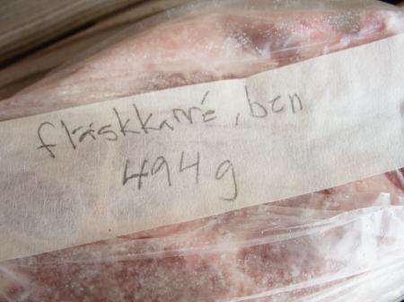 Fläskkarré med ben, 494 gram