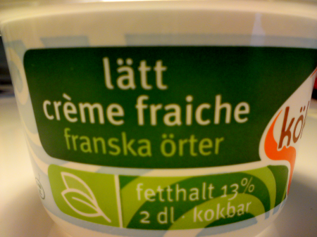crème fraiche, franska örter