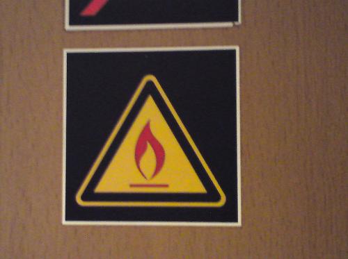 Varning för eld