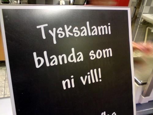 Tysksalami - blanda som ni vill!
