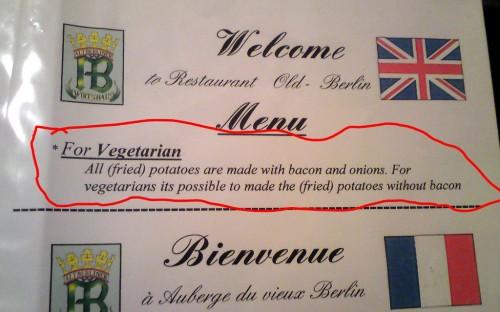 Vad står det egentligen om vegetarisk potatis?