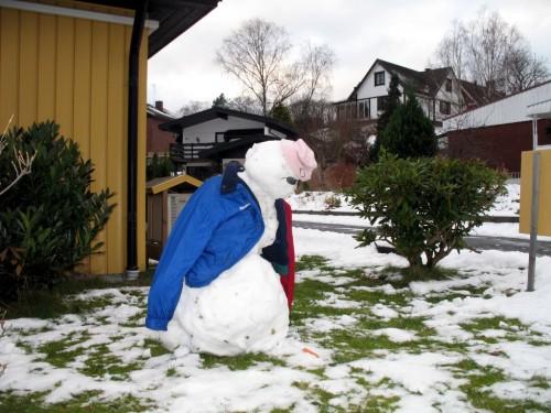 En hängig snögubbe